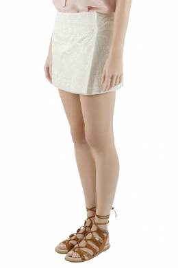 Isabel Marant Cream Embroidered Silk Andy Wrap Mini Skirt S 201637