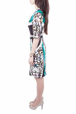 Peter Pilotto Multicolor Digital Print Belted Sheath Dress M 201715