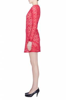 Marc By Marc Jacobs Strawberry Daiquiri Floral Lace Paneled Leila Dress S 201644