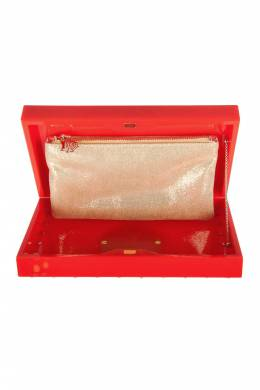 Charlotte Olympia Red Perspex Palace Pandora Box Clutch 203377