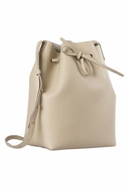 Mansur Gavriel Beige Leather Bucket Bag 203965