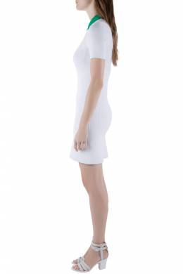 Alexander Wang Chalk White Optical Mesh Knit Polo Dress M 203601