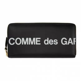 Comme Des Garcons Wallet Black Huge Logo Continental Wallet SA0110HL
