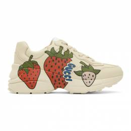 Gucci Off-White Strawberry Rhyton Sneakers 576963 DRW00