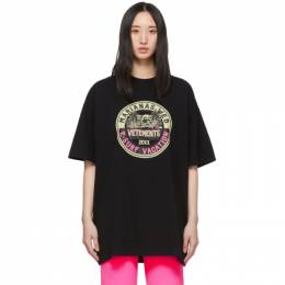 Vetements Black Surfer Logo T-Shirt UAH20TR925