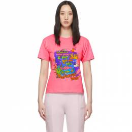 Vetements Pink Vacation Cropped T-Shirt WAH20TR314