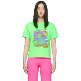 Vetements Green Vacation Cropped T-Shirt WAH20TR314