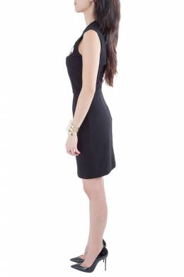 Stella McCartney Black Cotton Stretch Crochet Applique Detail Sleeveless Pencil Dress M 204671