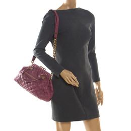 Marc Jacobs Pink Quilted Leather Stam Shoulder Bag 204598