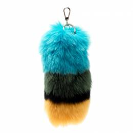 Furla Multicolor Fur Bubble Pom Pom Bag Charm 204022