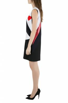 Victoria, Victoria Beckham Colorblock Lamé Trim Panelled Sleeveless Shift Dress M 204630