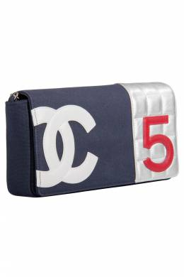Chanel Multicolor Canvas and Leather No. 5 Flap Bag 203666