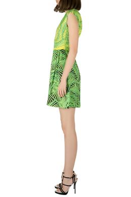 Peter Pilotto Green and Yellow Printed Silk Sleeveless Gia Sheath Dress S 204552
