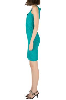 Zac Posen Emerald Green Snakeskin Jacquard Sleeveless Shift Dress S 204537
