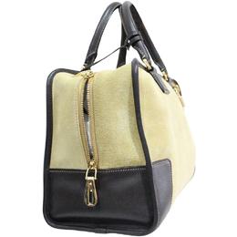 Loewe Beige Amazona Suede Leather Bag