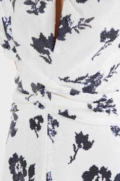 Платье миди с цветами и пайетками Self-Portrait 532138427 - 4
