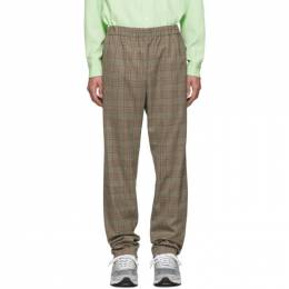Tibi SSENSE Exclusive Brown Check James Pull On Trousers P219JM3168