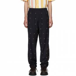 Tibi SSENSE Exclusive Navy Ant Pull On Trousers P219AW3168