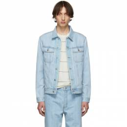 A.P.C. Indigo Denim Quilt Jacket CODAB-H02553
