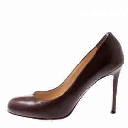 Christian Louboutin Brown Leather New Simple Pumps Size 39 206028