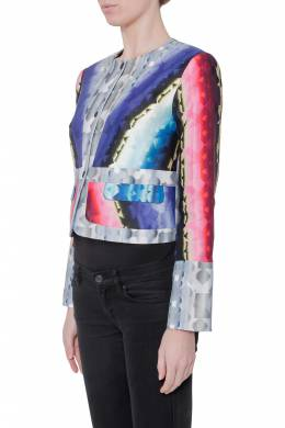 Peter Pilotto Multicolor Geometric Kaleidoscope Print Box Jacket S 204047