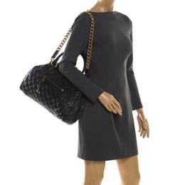 Marc Jacobs Black Quilted Leather Stam Shoulder Bag 206085
