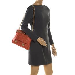 Marc Jacobs Orange Quilted Leather Mary Shoulder Bag 206090