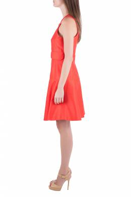 Carven Tangerine Cotton Silk Drop Waist Sleeveless Dress L