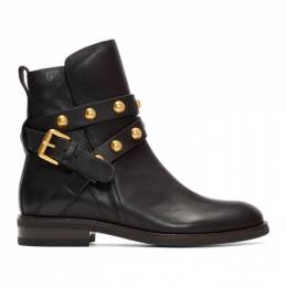 See By Chloe Black Janis Ankle Boots SB33005A 10001