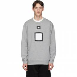 Burberry Grey Melange Cut-Out Sweater 8016314