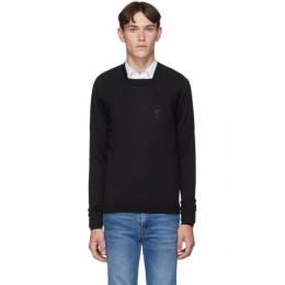 Burberry Black Monogram Knit Sweater 8016992