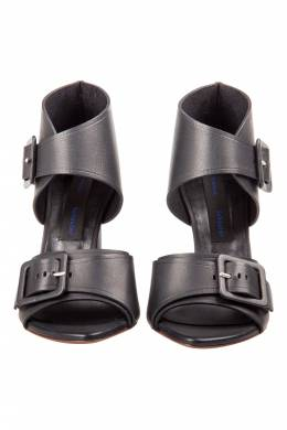 Proenza Schouler Black Leather Buckle Detail Sandals Size 36 204672