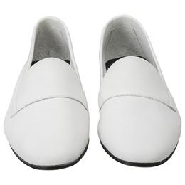 Pierre Hardy White Leather Jacno Slip On Loafers Size 37 205963