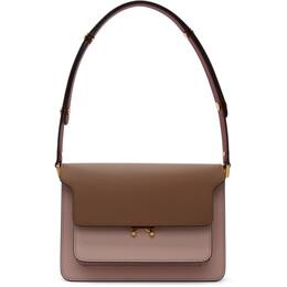Marni Pink and Brown Medium Trunk Bag SBMPN09NO3 LV583