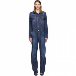 Dsquared2 Blue Denim Jumpsuit S75FP0068 S30341