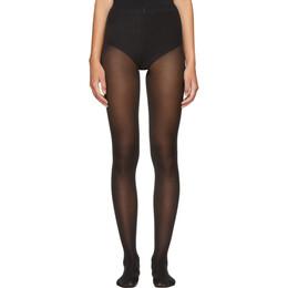 Wolford Black Velvet De Luxe 50 Tights 10687