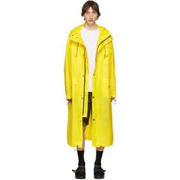 Pyer Moss Yellow Logo Raincoat SS19-J15
