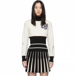 Off-White Black and Off-White Ribbed Cheerleader Turtleneck OWBA052E19F301190110