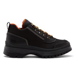 Prada Black Hybrid Hiking Boots 2TE143 3KML