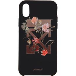 Off-White Black Flowers iPhone X Case 192607F03201401GB