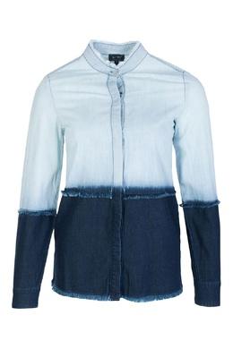 Джинсовая рубашка с отделкой Armani Jeans 1742139407