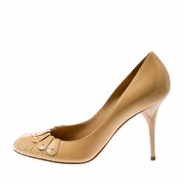 Dior Beige Leather Serpent Pumps Size 37 207026