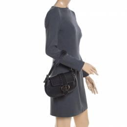 Fendi Black Leather Selleria Shoulder Bag 200790