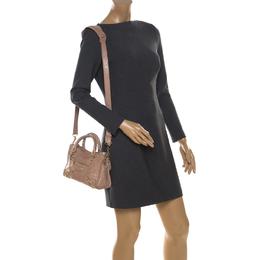 Balenciaga Beige Leather Mini Classic Edge City Bag 207087