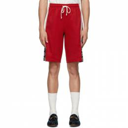 Gucci Red Jersey GG Ribbon Shorts 582022 XJA6S