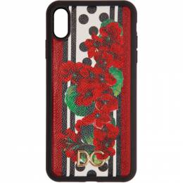 Dolce&Gabbana Red and Black Portofino-Print iPhone XS Max Case BI2515 AZ482