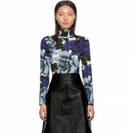 Prada Blue Flowers Turtleneck P921G 1U8Q