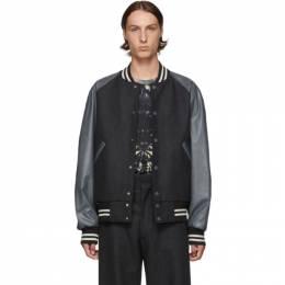 Dries Van Noten Grey Wool Bomber Jacket 20506-8193-901