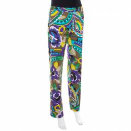 Etro Multicolor Printed Cotton Straight Fit Trouser M 207808