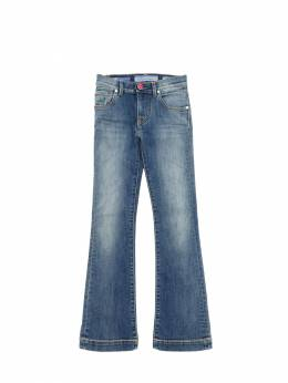 Flared Stretch Denim Jeans Jacob Cohen 70IX9V032-MDM50